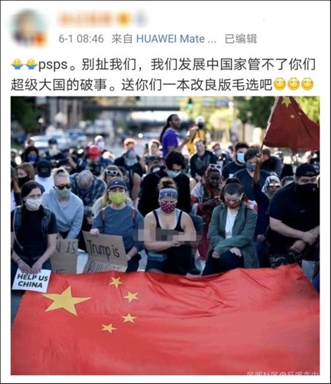 Tin giả về tình hình biểu tình ở Mỹ tràn lan trên mạng Trung Quốc ảnh 3