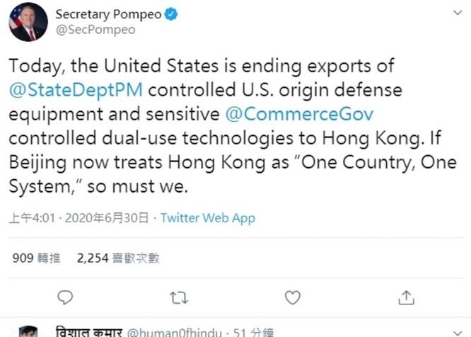 Trung Quốc thông qua Luật An ninh Quốc gia Hồng Kông, Mỹ và Trung Quốc tuyên bố trừng phạt lẫn nhau ảnh 2
