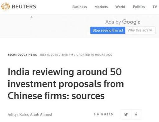 Ấn Độ xem xét lại khoảng 50 dự án đầu tư của Trung Quốc ảnh 1
