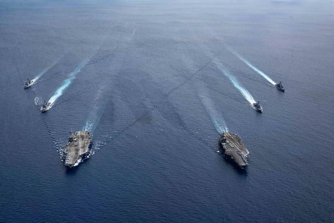 Báo Hoa ngữ: Trung Quốc cho máy bay H-6 diễn tập tấn công mục tiêu trên Biển Đông nhằm vào Mỹ ảnh 5