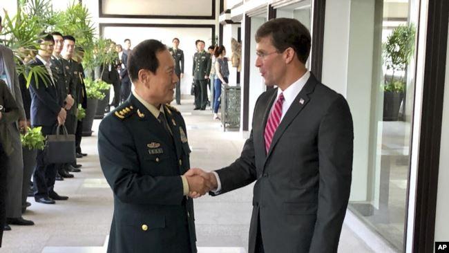 """Vào lúc quan hệ """"xuống đáy"""", Bộ trưởng Quốc phòng Mỹ, Trung Quốc điện đàm nói gì với nhau? ảnh 1"""
