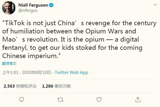 """Sử gia nổi tiếng người Anh: """"TikTok là thứ thuốc phiện kỹ thuật số"""" của Trung Quốc ảnh 2"""