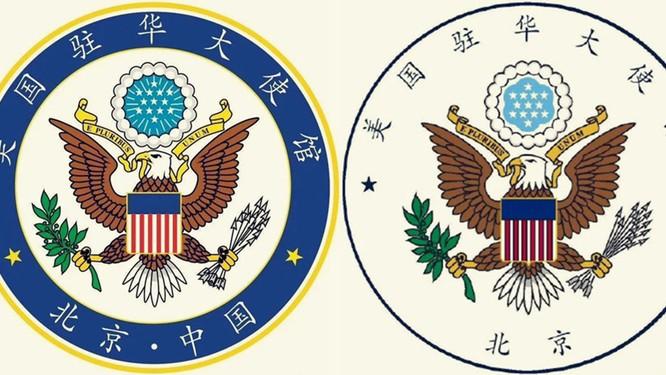 Thay đổi logo gây sóng gió dư luận, Đại sứ quán Mỹ tại Bắc Kinh nói gì? ảnh 1