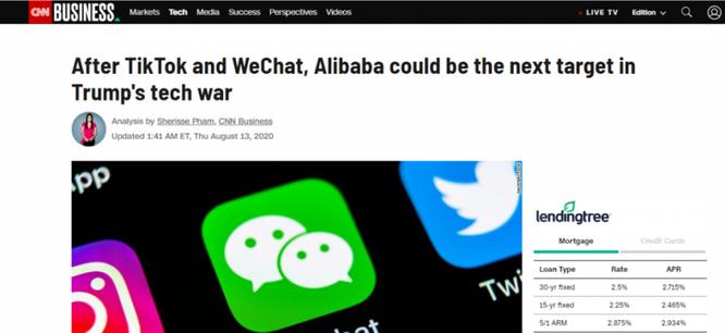 Xung quanh việc Tổng thống Donald Trump tuyên bố đang xem xét cấm Alibaba ảnh 4