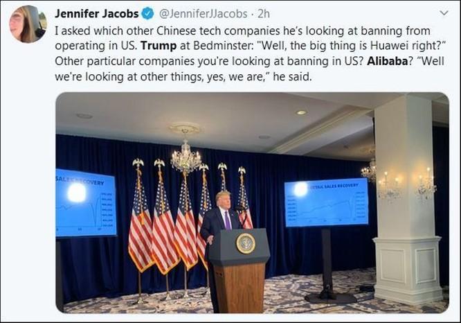 Xung quanh việc Tổng thống Donald Trump tuyên bố đang xem xét cấm Alibaba ảnh 2