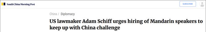 Chủ tịch Ủy ban Tình báo Hạ viện Mỹ đề nghị tuyển người giỏi tiếng Hoa để đối phó Trung Quốc ảnh 1
