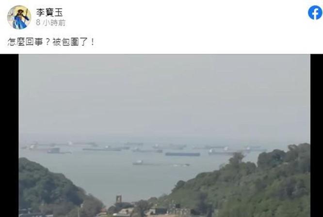 Trung Quốc cho hàng trăm tàu bao vây đảo, lực lượng chấp pháp Đài Loan cho tàu xua đuổi ảnh 1