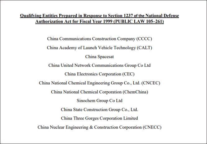 Ngày càng cứng rắn với Bắc Kinh, ông Trump sẽ trừng phạt thêm 4 công ty Trung Quốc ảnh 2