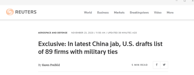 Tung đòn nặng trước khi rời chức, Tổng thống Trump chuẩn bị trừng phạt thêm 89 công ty Trung Quốc ảnh 1