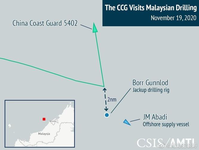 Tranh chấp trên Biển Đông: tàu hải quân Malaysia đối đầu tàu hải cảnh Trung Quốc ảnh 2