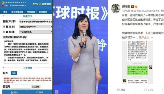 Chuyện xung quanh vụ Tổng biên tập Thời báo Hoàn cầu Trung Quốc bị đồng nghiệp tố cáo ngoại tình ảnh 1