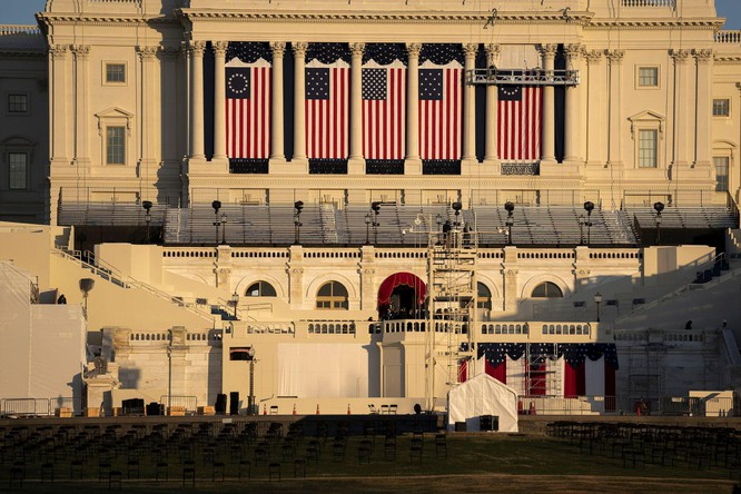 Nước Mỹ chuẩn bị cho Lễ nhậm chức của ông Biden như sắp có chiến tranh ảnh 1