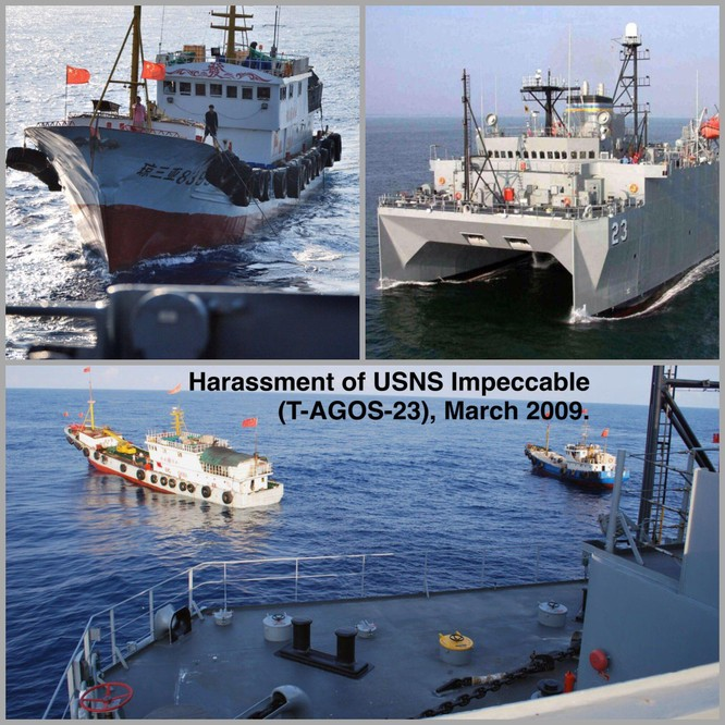 Nóng: Tàu trinh sát Mỹ vào gần Hoàng Sa bị máy bay Trung Quốc diễn tập tấn công ảnh 3