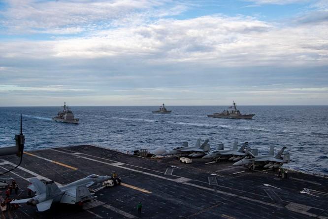 Giữa lúc tranh chấp đảo Trung – Nhật nóng lên, Hải quân Mỹ-Nhật tập trận chung nhằm vào Trung Quốc ảnh 1