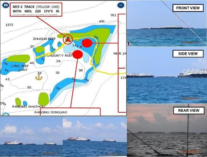 Nóng: Trung Quốc cho 220 tàu dân binh tập kết ở bãi Ba Đầu thuộc quần đảo Trường Sa ảnh 1