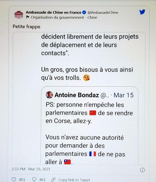 """Nóng: Xung đột ngoại giao Pháp – Trung, """"Đại sứ Chiến lang"""" tại Paris bị triệu tập ảnh 3"""