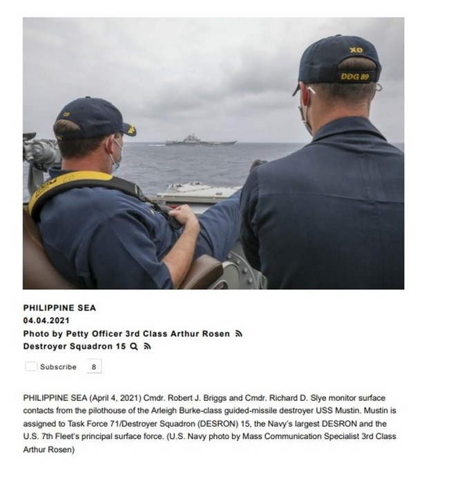 Cư dân mạng Trung Quốc nổi sóng trước hình ảnh tàu khu trục Mỹ bám sát tàu sân bay Liêu Ninh ảnh 2
