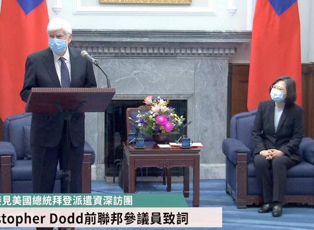 Bà Thái Anh Văn tiếp các đại diện của ông Biden giữa lúc Trung Quốc tập trận bắn đạn thật ảnh 1