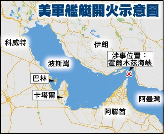 Xem video tàu Iran và tàu Mỹ đối đầu nhau trên Vịnh Ba Tư ảnh 3