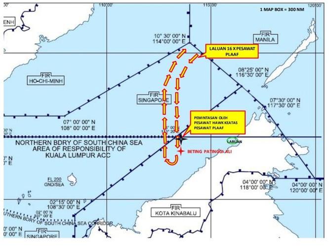 Malaysia phản đối Trung Quốc cho 16 máy bay quân sự vào sâu vùng đặc quyền kinh tế ảnh 1