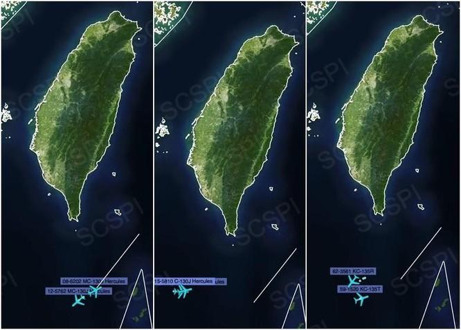 Máy bay quân sự Mỹ - Trung cùng lúc xuất hiện ở không phận Tây Nam Đài Loan ảnh 1