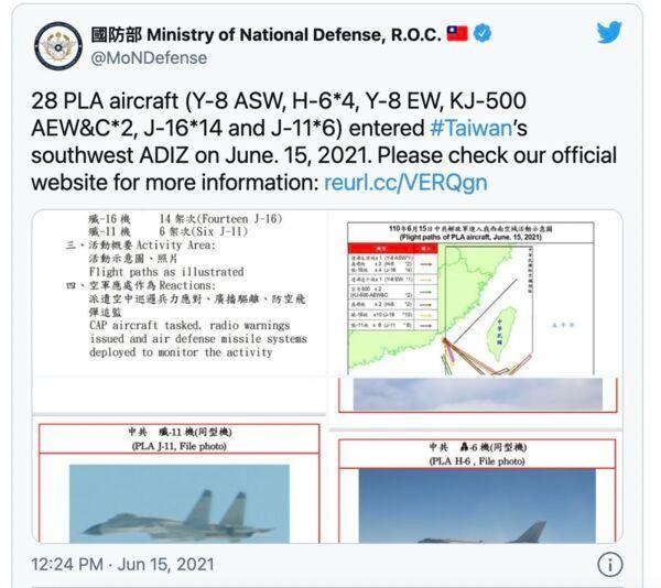 Trung Quốc cho 28 máy bay vào không phận Đài Loan, Mỹ ra tuyên bố khẳng định cam kết với Đài Bắc ảnh 1