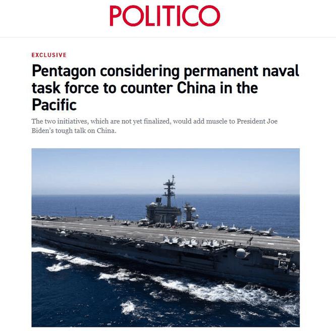 """Mỹ cân nhắc việc thành lập một """"lực lượng đặc nhiệm hải quân"""" ở Thái Bình Dương đối phó Trung Quốc ảnh 1"""