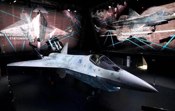 """Chùm ảnh mới được công bố về máy bay chiến đấu tàng hình bí ẩn """"Chiếu tướng"""" của Nga ảnh 3"""