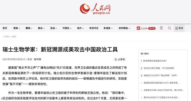 Bịa chuyện nhà khoa học Thụy Sĩ nói về nguồn gốc SARS-CoV-2, truyền thông Trung Quốc bị phen bẽ mặt ảnh 2