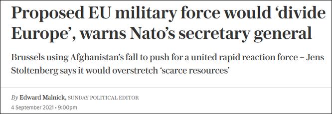 Liên minh châu Âu muốn thành lập quân đội riêng, Tổng thư ký NATO kịch liệt phản đối ảnh 1