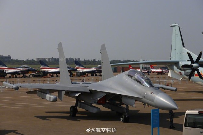 """Khám phá máy bay tác chiến điện tử J-16D """"mạnh nhất thế giới"""" Trung Quốc lần đầu trình làng ảnh 1"""