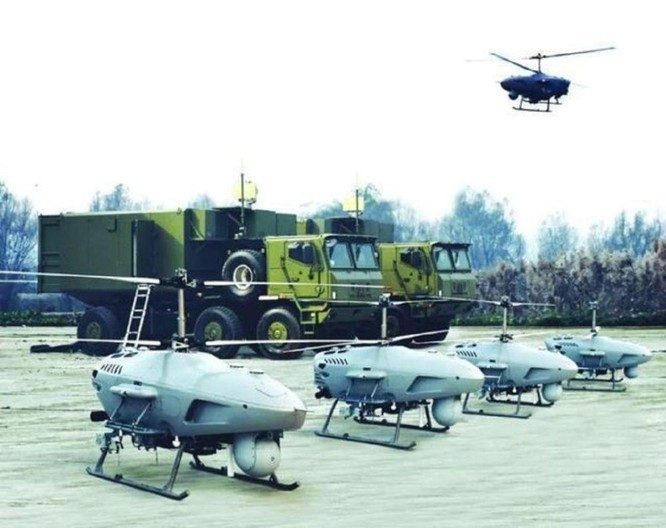 Lộ diện UAV trực thăng bí ẩn trên tàu đổ bộ Type 075 và đội hình UAV trực thăng của Trung Quốc ảnh 5