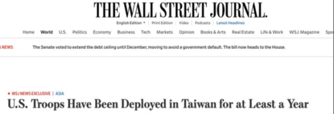 Trung Quốc phản ứng quyết liệt trước tin lính Mỹ đóng ở Đài Loan, đe dọa chiến tranh ảnh 1