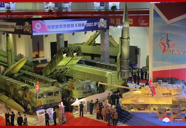 Xem tên lửa siêu thanh Hwasong-8 và các vũ khí mới được Triều Tiên trưng bày ảnh 3
