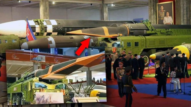 Xem tên lửa siêu thanh Hwasong-8 và các vũ khí mới được Triều Tiên trưng bày ảnh 2