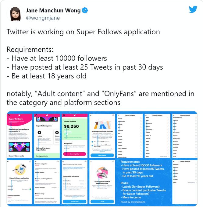 Dịch vụ Super Follows trên Twitter sớm sẽ được ra mắt ảnh 2