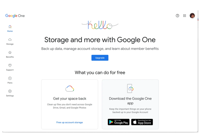 Cách chia sẻ bộ nhớ Google One với gia đình ảnh 1