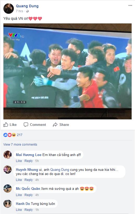 Đoạn Status của ca sĩ Quang Dũng