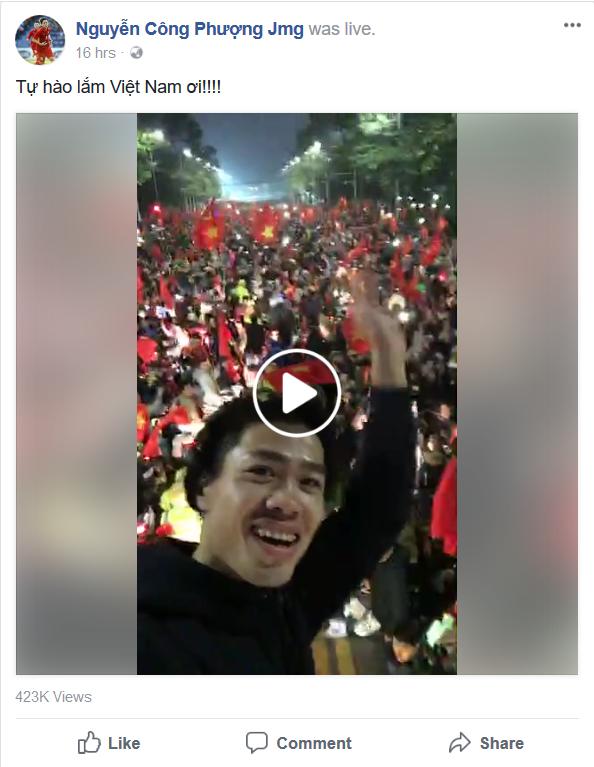 """Tuyển thủ U23 Việt Nam chia sẻ gì trên """"Phây"""" sau trận chung kết ảnh 11"""