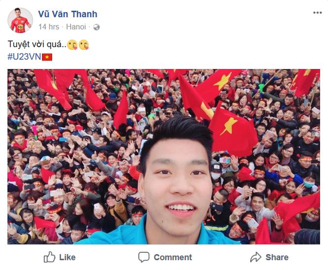 """Tuyển thủ U23 Việt Nam chia sẻ gì trên """"Phây"""" sau trận chung kết ảnh 12"""