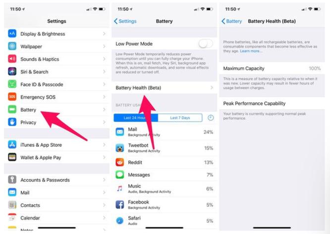 """Làm thế nào để kiểm tra """"sức khỏe"""" pin và tắt tính năng làm chậm iPhone trên iOS 11.3? ảnh 1"""