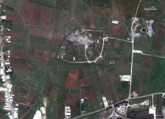 """76 tên lửa liên quân Mỹ """"làm cỏ"""" trung tâm khoa học Syria qua hình ảnh vệ tinh ảnh 4"""