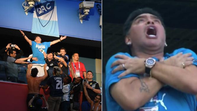 """""""Cậu bé vàng"""" Diego Maradona nhập viện sau chiến thắng kịch tính của Argentina trước Nigeria ảnh 1"""