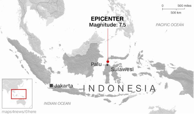 Đã có 384 người thiệt mạng, hàng trăm người bị thương sau động đất và sóng thần tại Indonesia ảnh 7