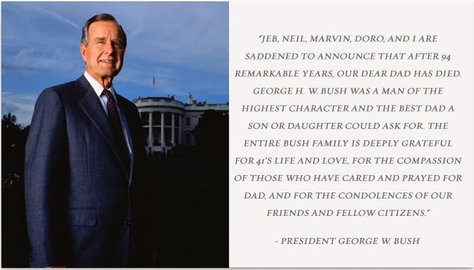 """Cựu Tổng thống George Bush """"cha"""" qua đời ở tuổi 94 ảnh 1"""