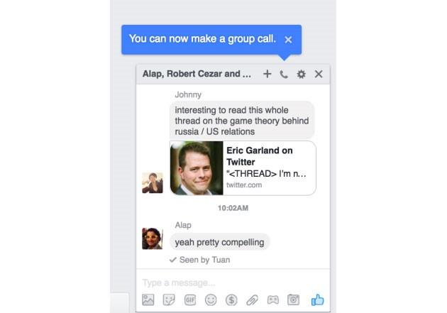 Facebook Messenger sắp thêm tính năng gọi điện theo nhóm trên máy tính ảnh 1