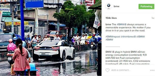 Hình ảnh BMW i8 lội nước tại Sài Gòn gây xôn xao trên mạng xã hội nước ngoài - Ảnh 1.