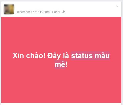 """Viết """"status màu mè"""" trên Facebook như thế nào? ảnh 1"""