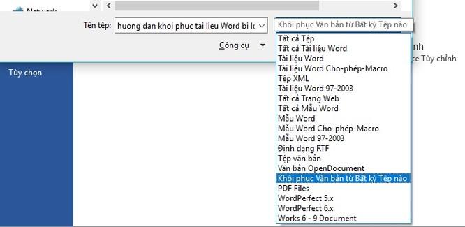 File Word 2016 bị lỗi: Làm sao khôi phục? ảnh 7