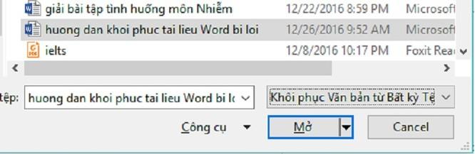 File Word 2016 bị lỗi: Làm sao khôi phục? ảnh 8